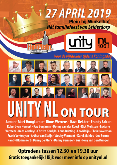 Poster Unity NL on tour - Koningsdag 2019