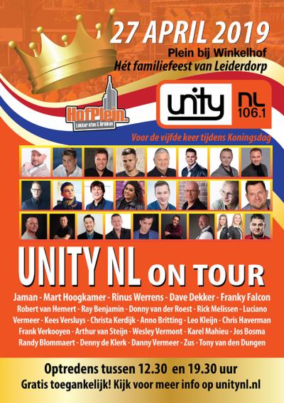 Poster Unity NL on tour - Koningsdag 2019